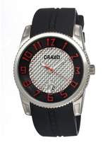 Crayo Rugged Silver-tone Stainless Steel Case Men's Watch