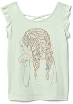 Embroidery graphic crisscross tee