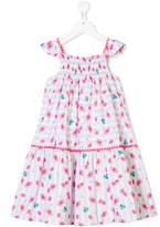 La Stupenderia poppy print striped dress