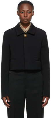 Bottega Veneta Black Wool Cropped Jacket