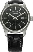 Jowissa Men's J4.008.L Nero Stainless Steel Genuine Leather Automatic Date Watch