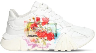 Versace Squalo Print Leather Sneakers