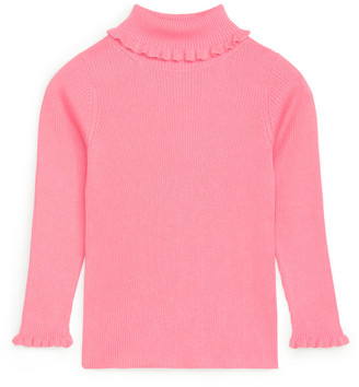 Arket Frilled Cotton Turtleneck