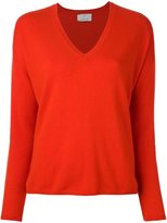 Allude v neck fine knit jumper
