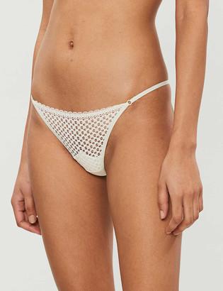 Heidi Klum Intimates Marigold sheer lace thong