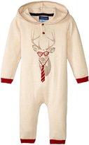 Andy & Evan Reindeer Print Romper (Baby) - Light Beige - 12/18 - 12-18 Months