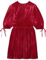 ALEXACHUNG Bow-embellished Velvet Dress