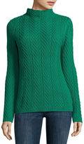 Liz Claiborne Mock Neck Pullover Sweater