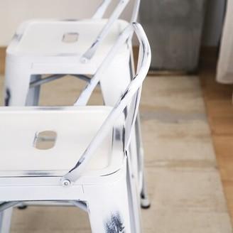 "17 Stories Marlon Bar & Counter Stool Seat Height: Counter Stool (24"" Seat Height), Color: White"