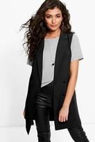 Boohoo Sharlene Double Breasted Sleeveless Blazer
