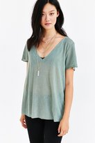 Tee Party Project Social T Textured-Knit V-Neck Tee