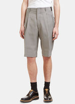 Fendi Men's Oversized Checked Shorts In Black And White