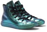Converse Green Chuck Taylor All Star Rubber Hi-Top Trainers