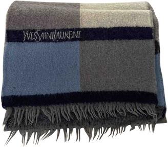 Saint Laurent Blue Wool Scarves & pocket squares