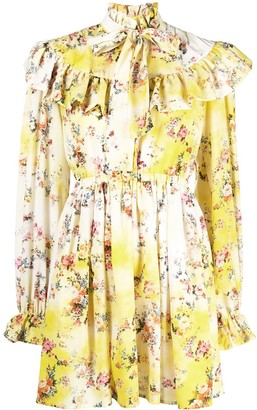 MSGM Ruffled Floral Dress