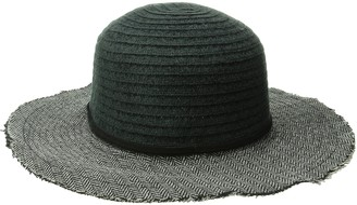 San Diego Hat Company Women's Chenille Crown with Herringbone Fabric Brim Floppy Hat