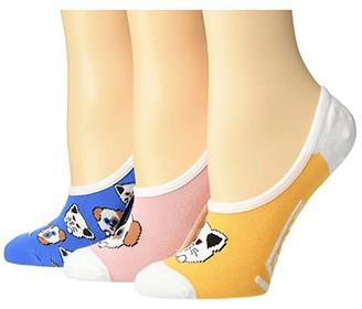 Vans Smarty Paws Canoodles 3-Pack (Multi) Women's Crew Cut Socks Shoes