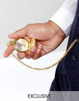 Reclaimed Vintage Inspired Pocket Watch In Gold Exclusive To Asos