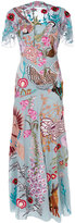 Temperley London Woodland long dress - women - Silk/Nylon/Spandex/Elastane - 6