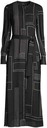Lafayette 148 New York Coleen Geometric Shirtdress