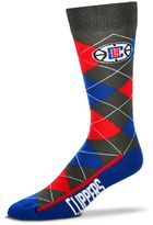 For Bare Feet Men's Los Angeles Clippers Argyle Dress Socks