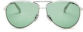 Celine Women's Glitter Brow Bar Aviator Sunglasses, 61mm