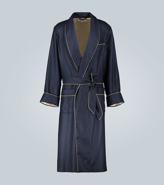 Derek Rose Duke silk-lined cashmere dressing gown