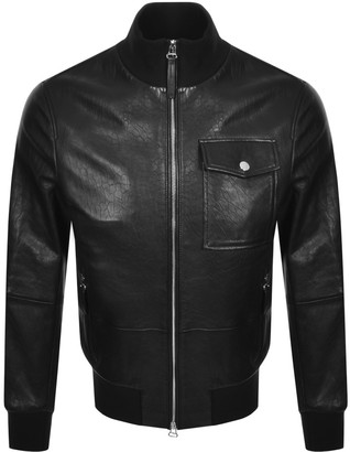 Boss Business BOSS Gatek Leather Jacket Black