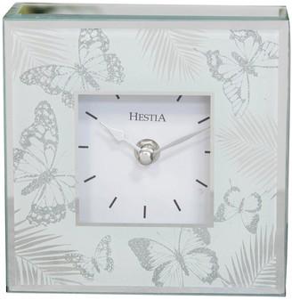 Hestia Glass Butterfly Mantel Clock