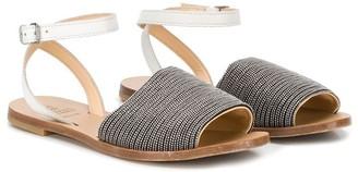 BRUNELLO CUCINELLI KIDS Ankle Strap Sandals