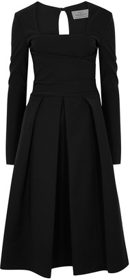 Preen by Thornton Bregazzi Black stretch-crepe midi dress