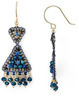 Miguel Ases Beaded Triangle Drop Earrings