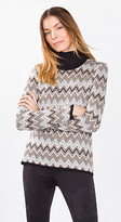 Esprit OUTLET knitted zigzag print jumper