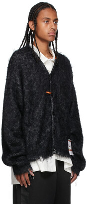Miharayasuhiro Black Mohair Knit Cardigan