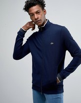 Lacoste Sweatshirt With Zip Up In Navy