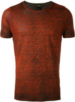 Avant Toi side slit T-shirt - men - Linen/Flax - L