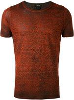 Avant Toi side slit T-shirt - men - Linen/Flax - S