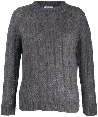 Prada crew neck chunky knitted jumper