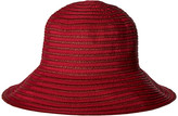 San Diego Hat Company RBM5557 Ribbon Sun Hat with Braided Fauxe Suede Snap Closure