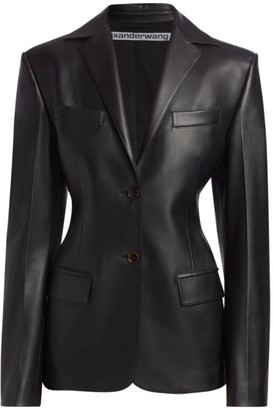 Alexander Wang Fitted Leather Blazer
