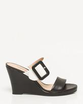 Le Château Leather Platform Mule Sandal