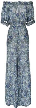 Luisa Beccaria Floral Print Off-Shoulder Jumpsuit