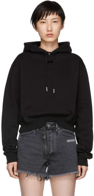 Off-White Off White Black Arrow Cropped Hoodie