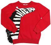 Little Marc Jacobs Zebra Intarsia Knit Sweater