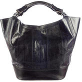 Jil Sander Embossed Top Handle Tote