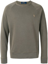 Polo Ralph Lauren logo raglan jumper - men - Cotton - M