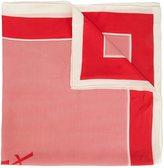 Saint Laurent striped monogram scarf