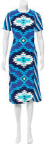 House of Holland Geometric Print Midi Dress