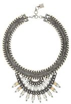 BCBGMAXAZRIA Woven Chain Embellished Fan Statement Necklace