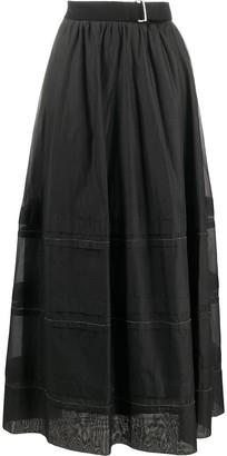 Peserico Long Layered Skirt